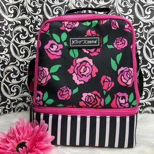Betsey Johnson Floral/Stripe Insulated Lunch Tote
